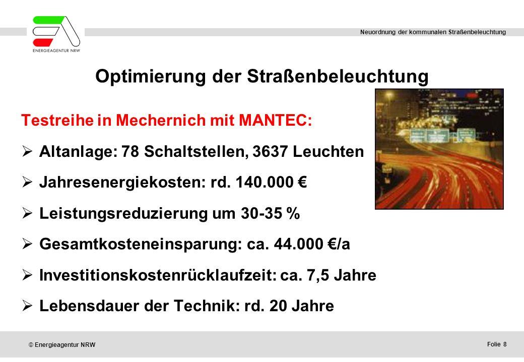 Optimierung der Straßenbeleuchtung