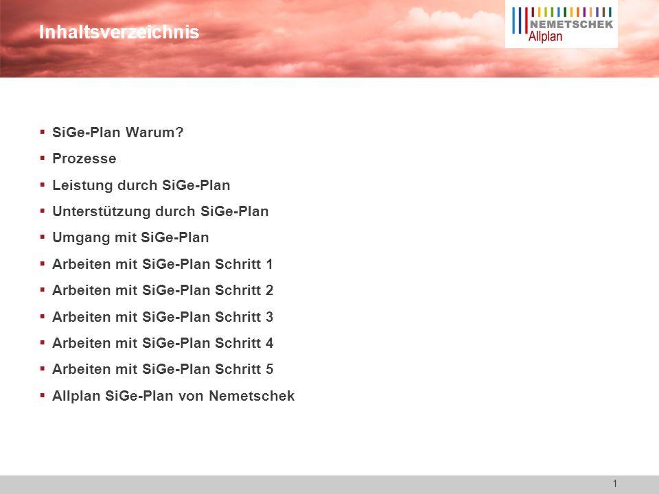 Inhaltsverzeichnis SiGe-Plan Warum Prozesse Leistung durch SiGe-Plan