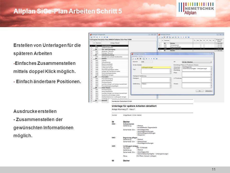 Allplan SiGe-Plan Arbeiten Schritt 5
