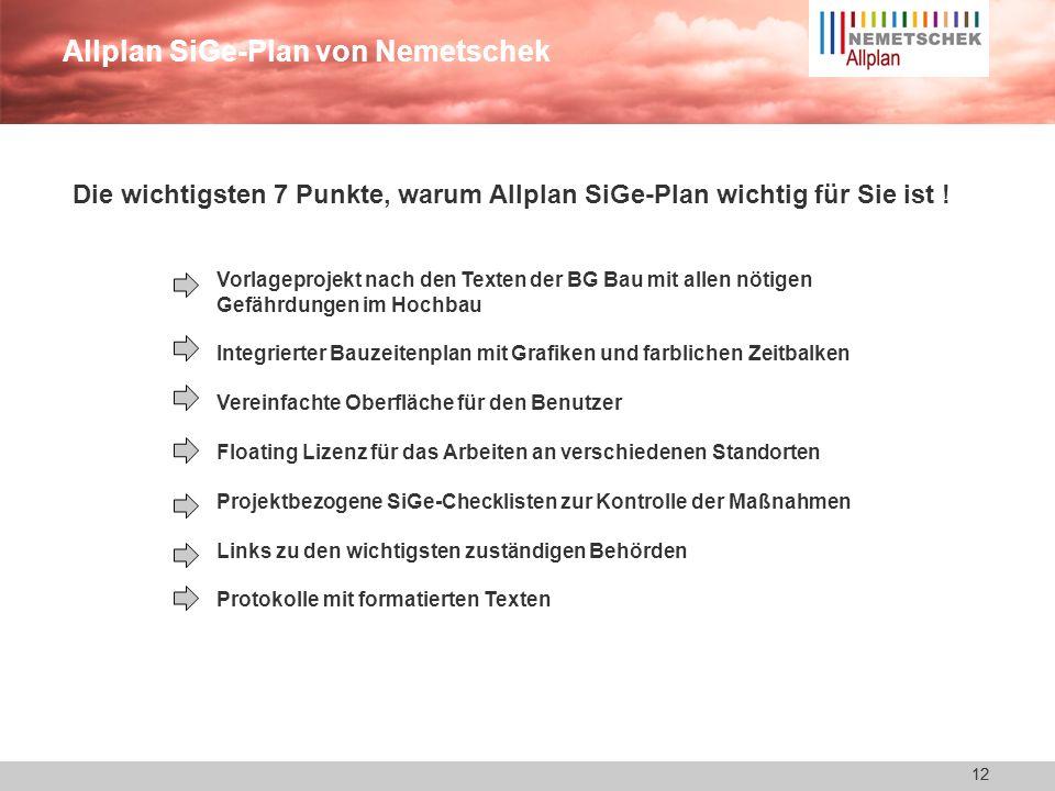 Allplan SiGe-Plan von Nemetschek