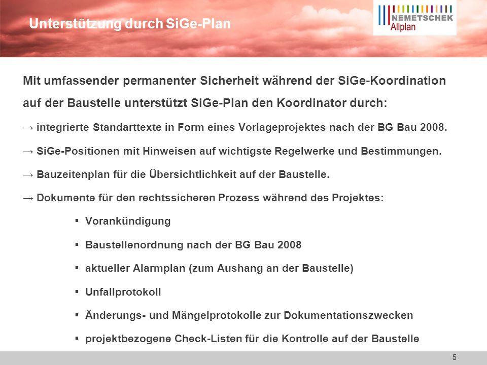 Unterstützung durch SiGe-Plan