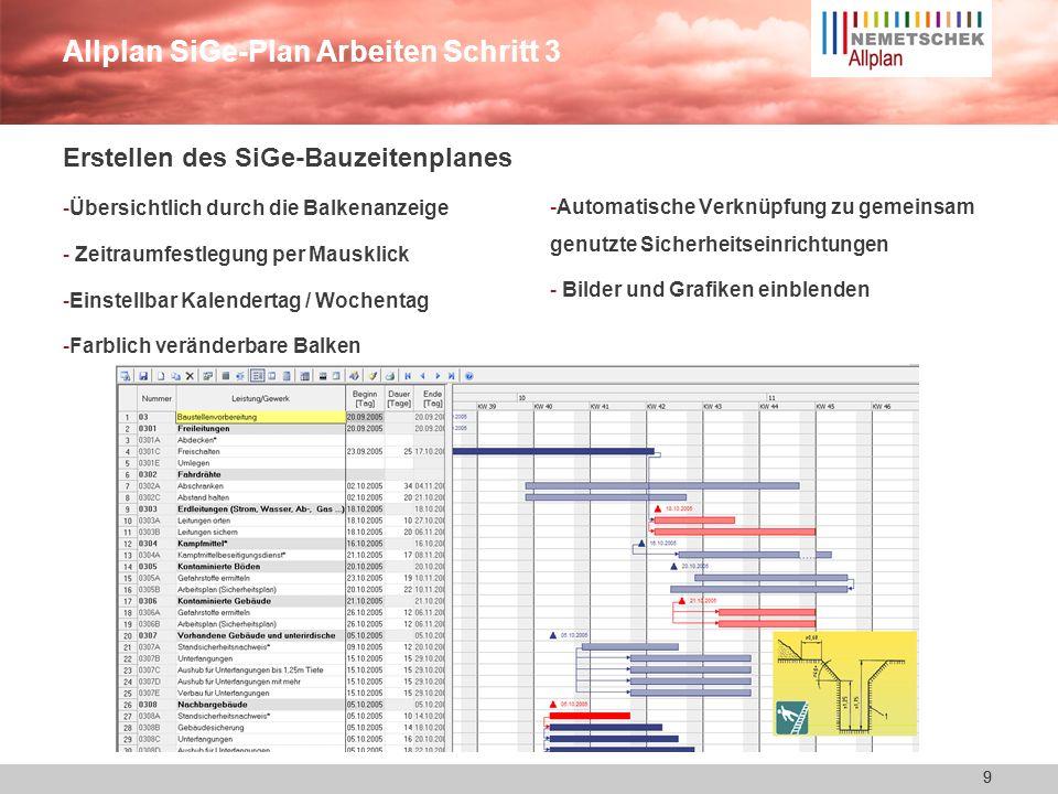 Allplan SiGe-Plan Arbeiten Schritt 3