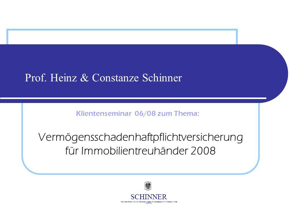 Prof. Heinz & Constanze Schinner