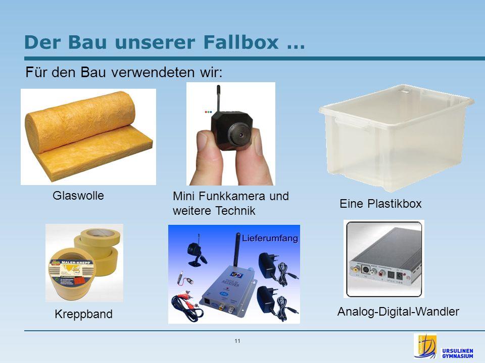 Der Bau unserer Fallbox …