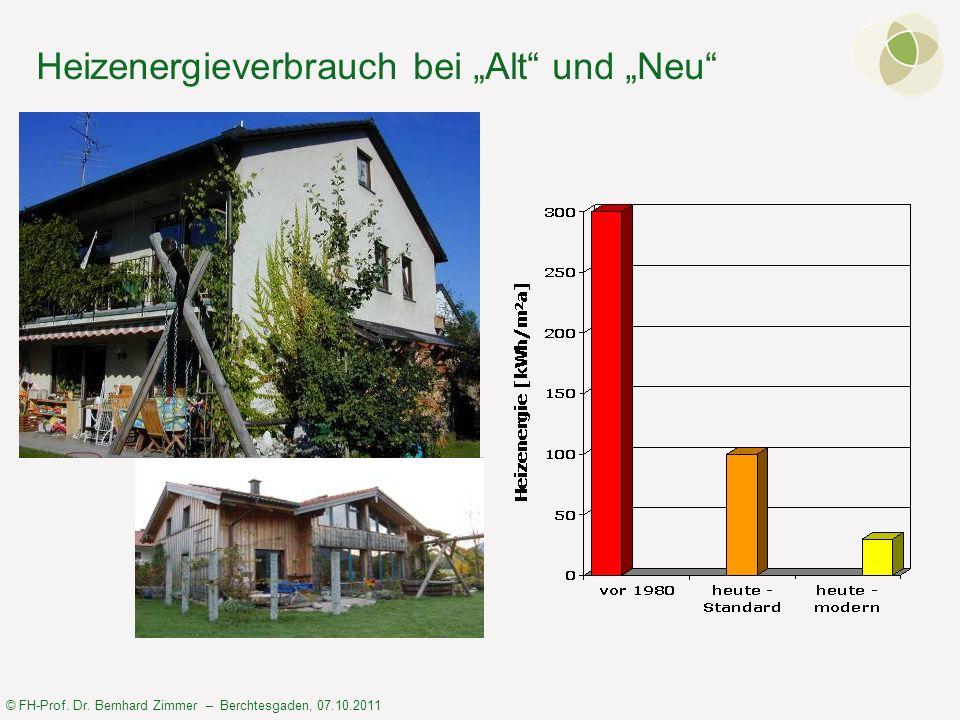 """Heizenergieverbrauch bei """"Alt und """"Neu"""
