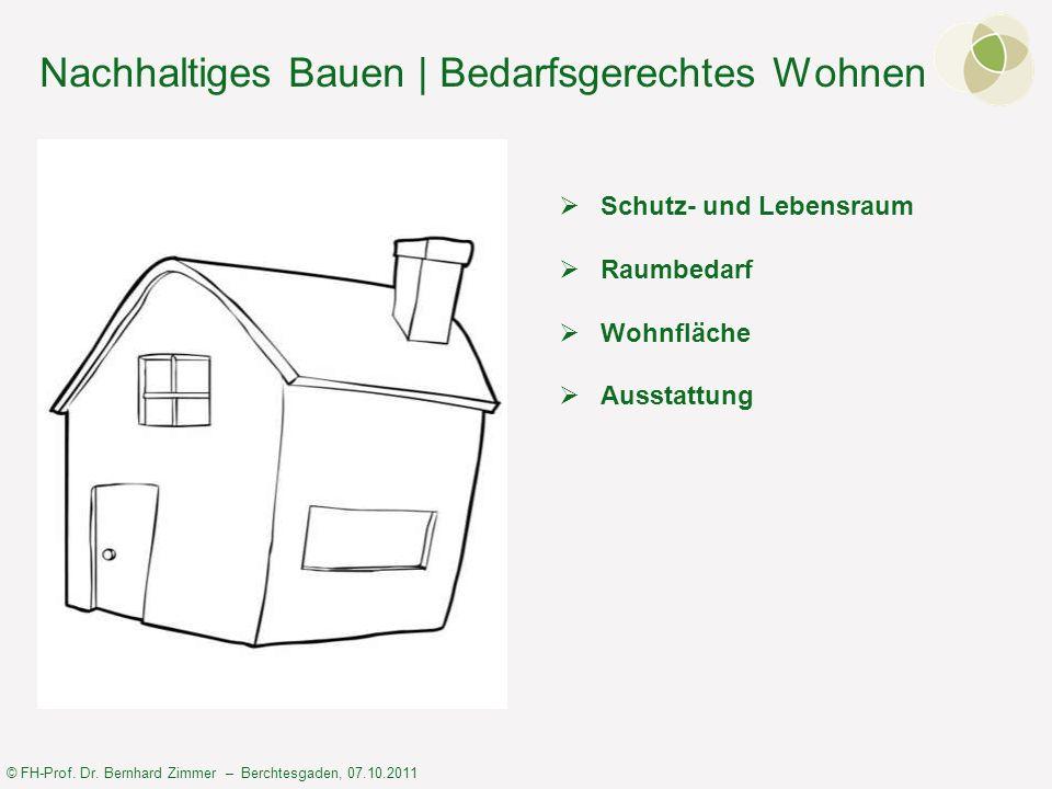 Nachhaltiges Bauen | Bedarfsgerechtes Wohnen