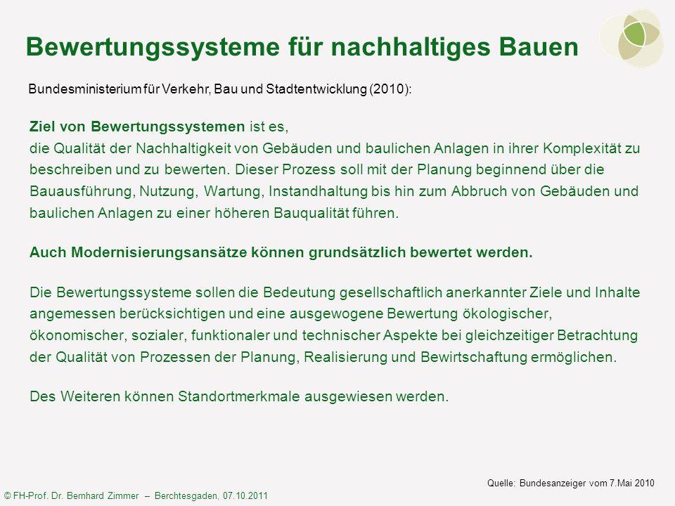 Bewertungssysteme für nachhaltiges Bauen