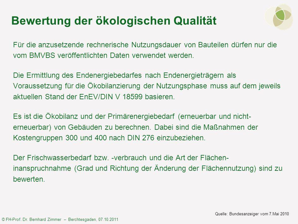 Bewertung der ökologischen Qualität