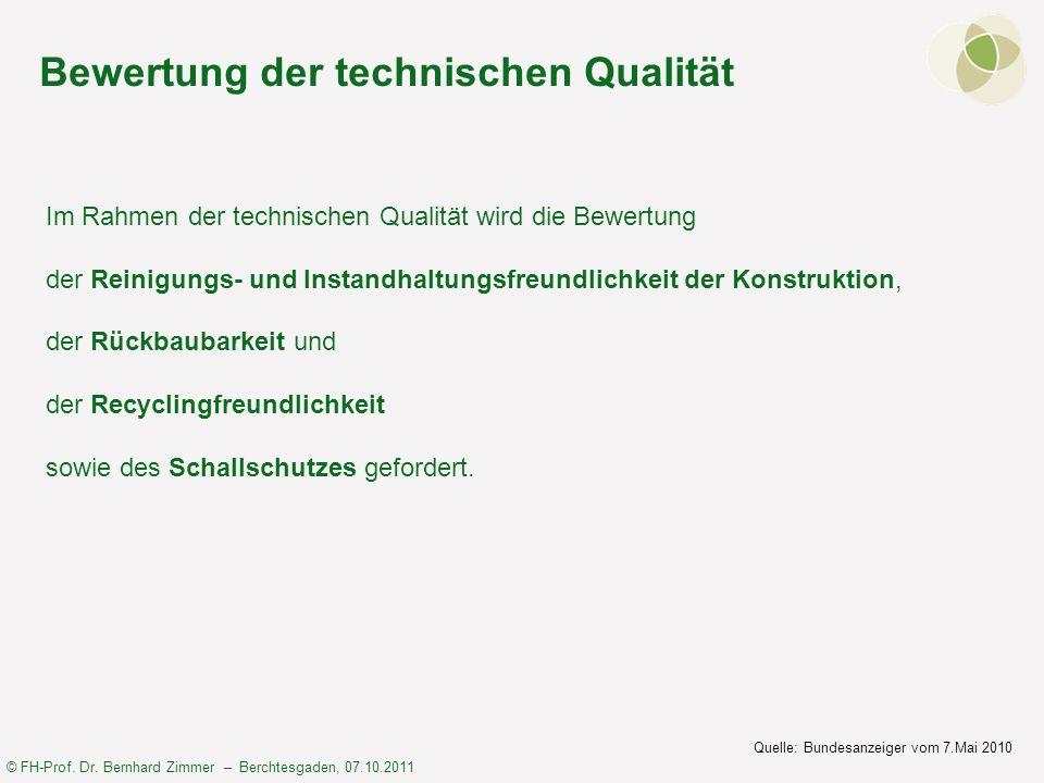 Bewertung der technischen Qualität