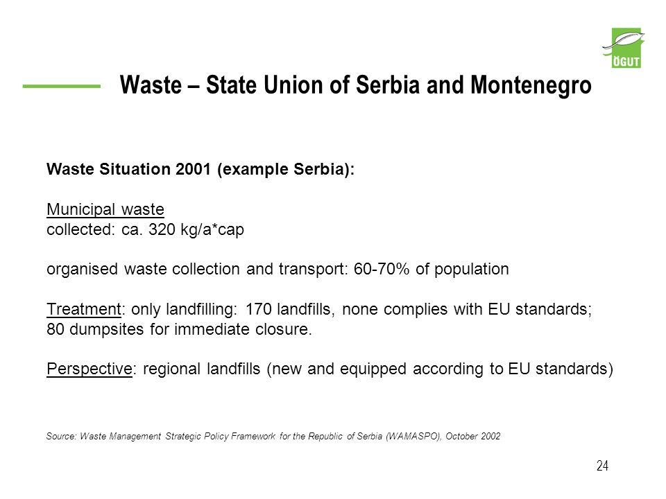 Waste – State Union of Serbia and Montenegro