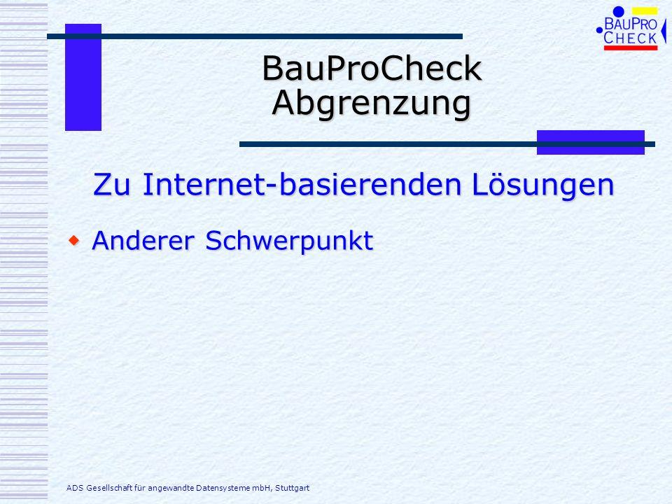 BauProCheck Abgrenzung