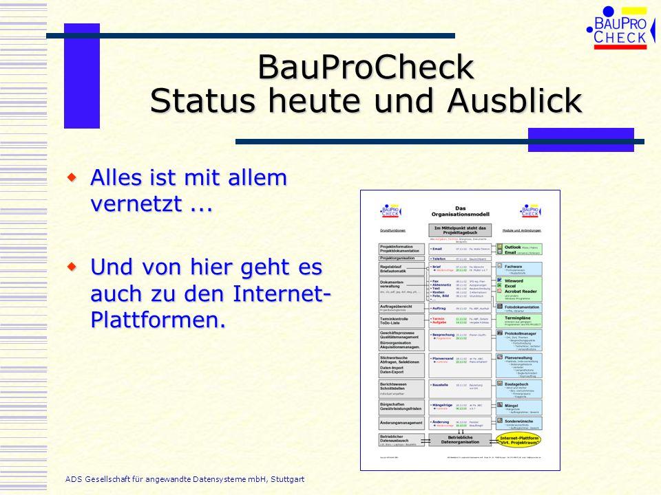 BauProCheck Status heute und Ausblick