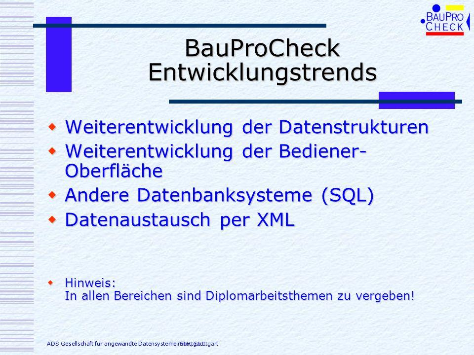 BauProCheck Entwicklungstrends