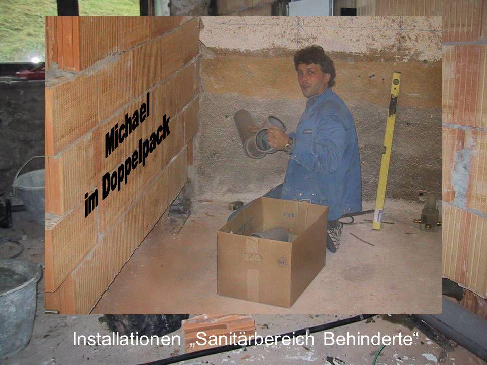 """Installationen """"Sanitärbereich Behinderte"""
