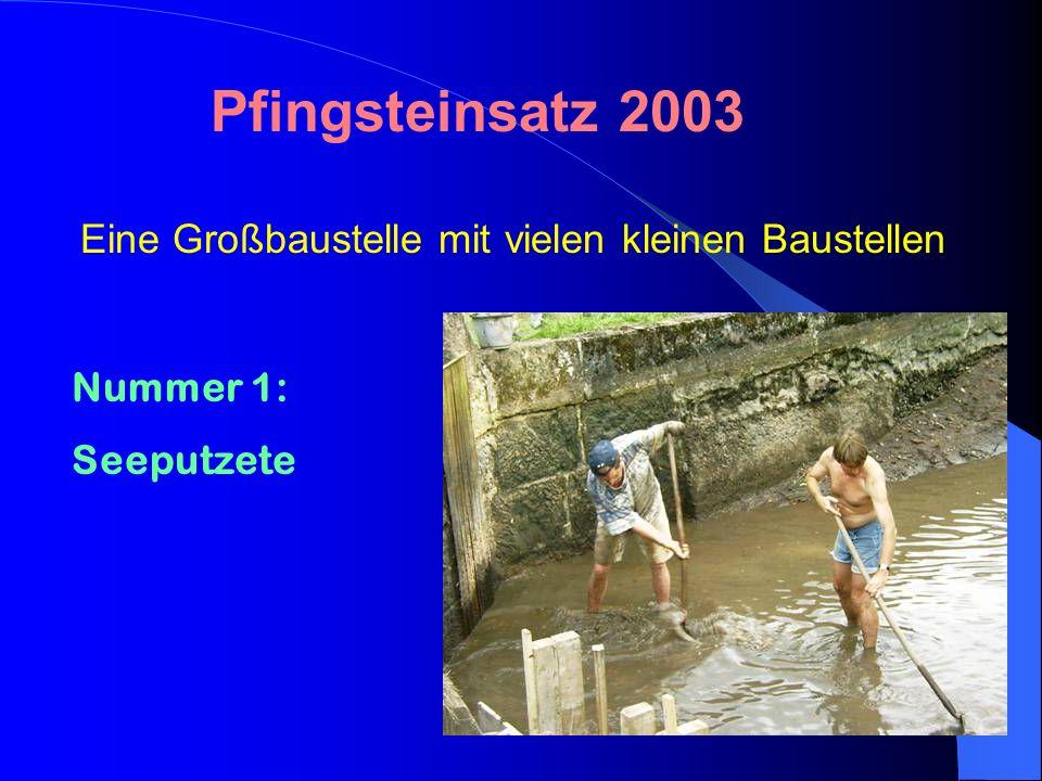 Pfingsteinsatz 2003 Eine Großbaustelle mit vielen kleinen Baustellen