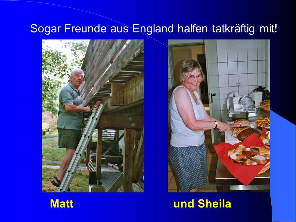 Sogar Freunde aus England halfen tatkräftig mit!