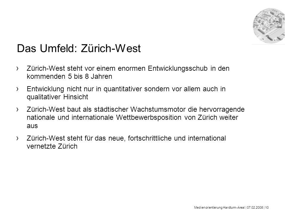 Das Umfeld: Zürich-West