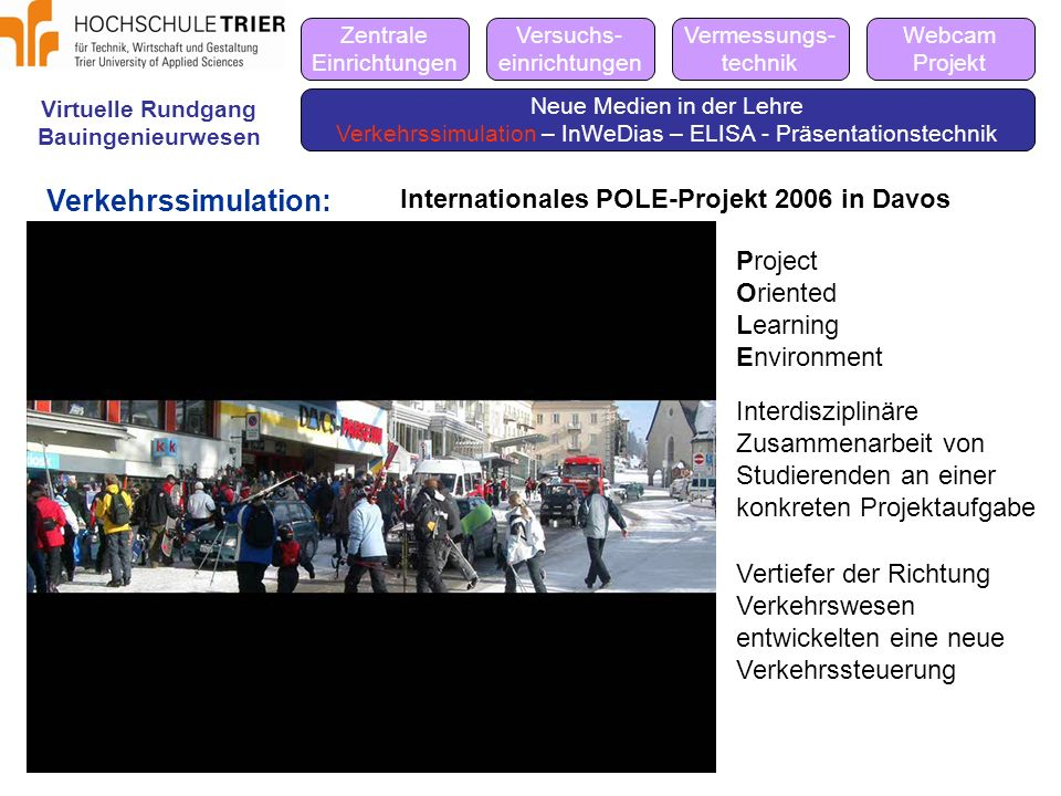 Verkehrssimulation: Internationales POLE-Projekt 2006 in Davos Project