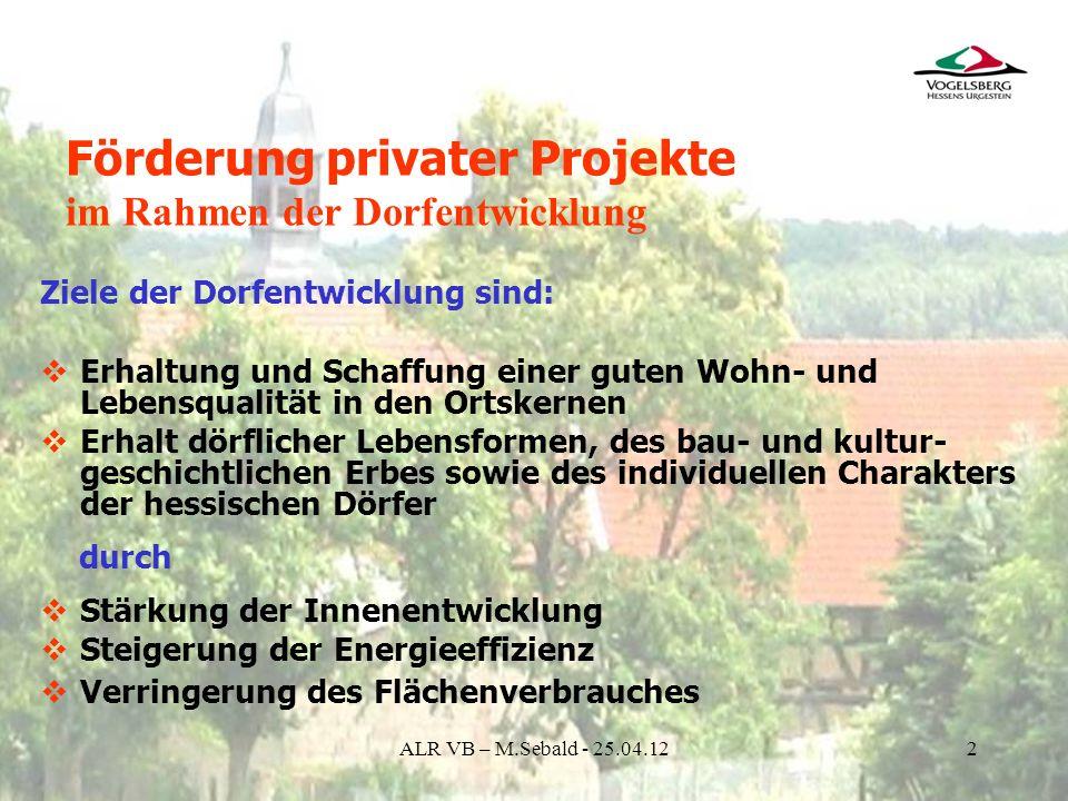 Förderung privater Projekte