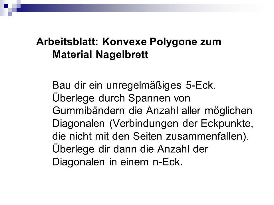 Arbeitsblatt: Konvexe Polygone zum Material Nagelbrett