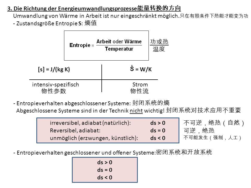 3. Die Richtung der Energieumwandlungsprozesse能量转换的方向