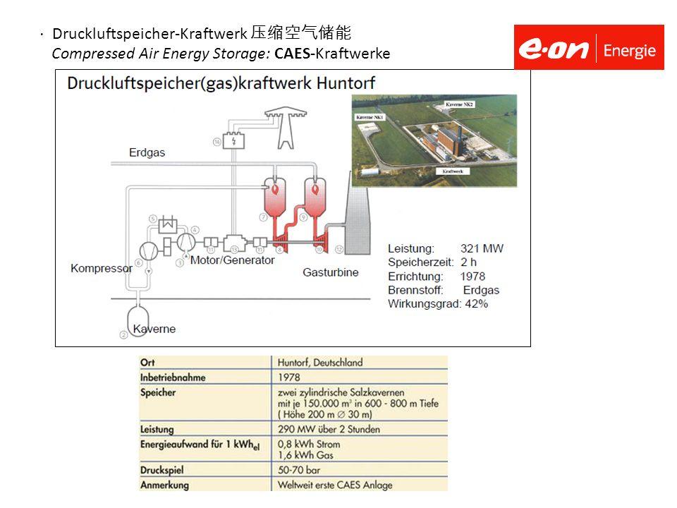 ⋅ Druckluftspeicher-Kraftwerk 压缩空气储能