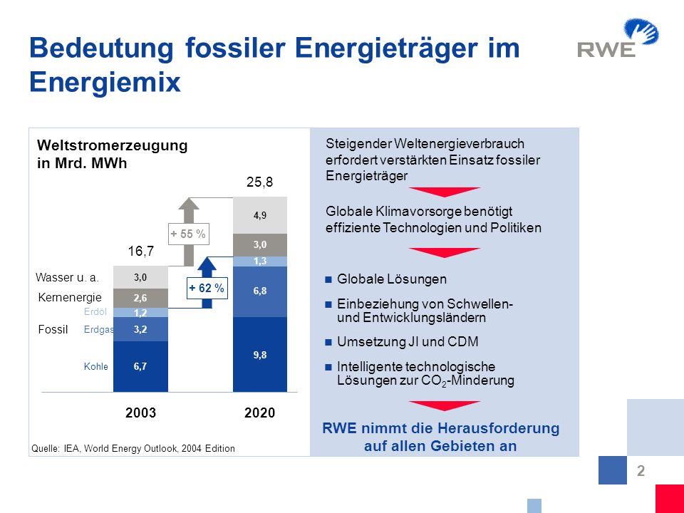 Bedeutung fossiler Energieträger im Energiemix