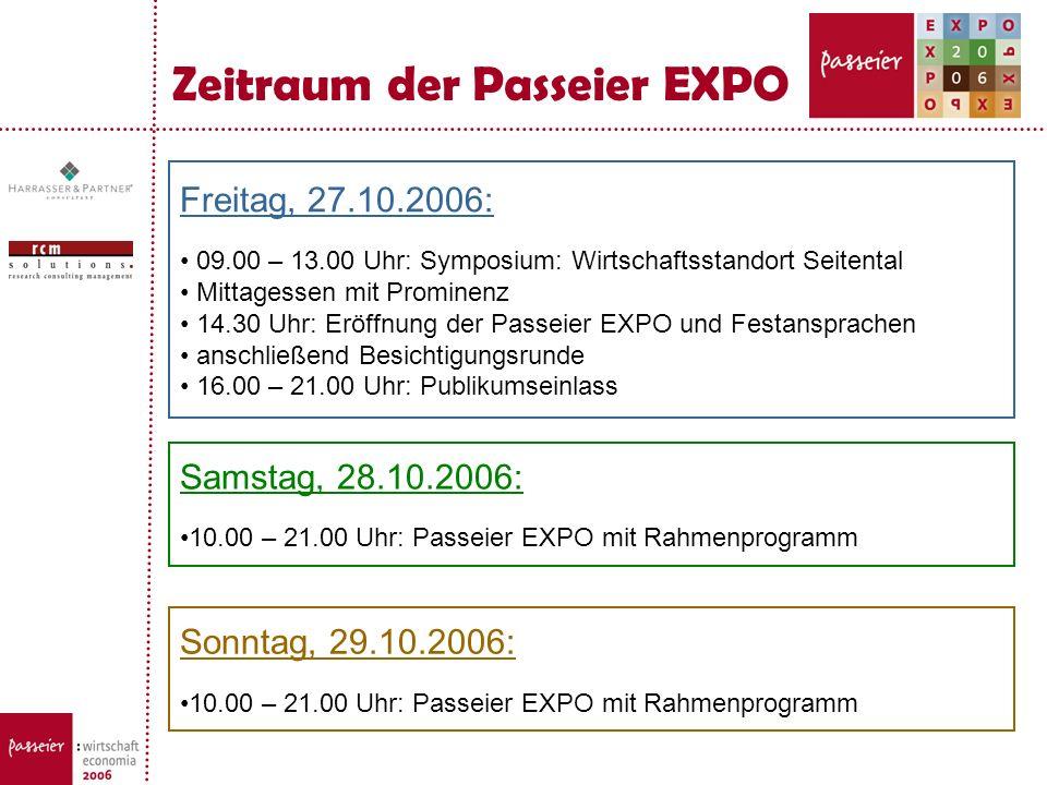 Zeitraum der Passeier EXPO