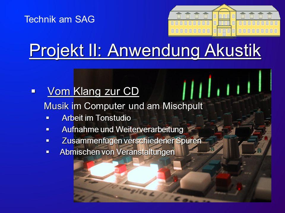 Projekt II: Anwendung Akustik