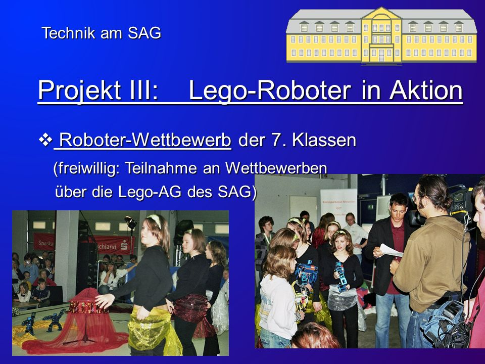 Projekt III: Lego-Roboter in Aktion
