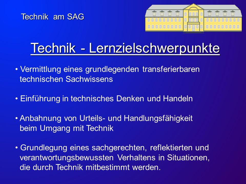 Technik - Lernzielschwerpunkte