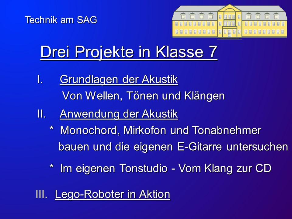 Drei Projekte in Klasse 7