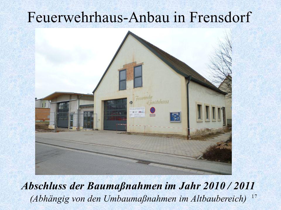 Feuerwehrhaus-Anbau in Frensdorf