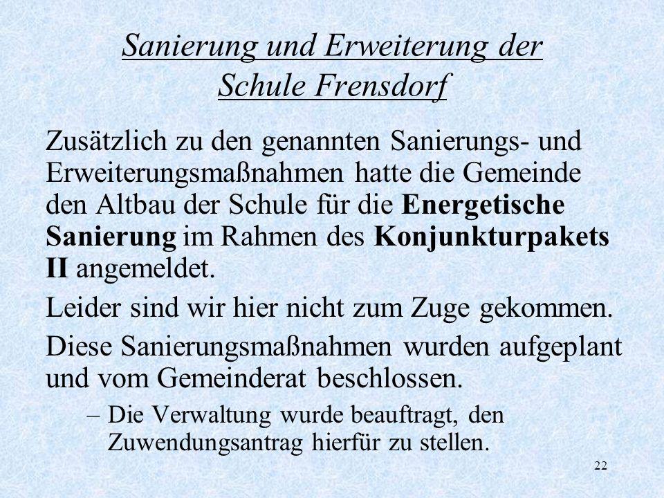 Sanierung und Erweiterung der Schule Frensdorf