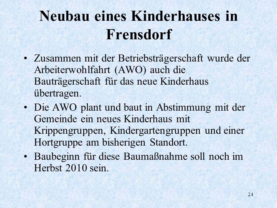 Neubau eines Kinderhauses in Frensdorf