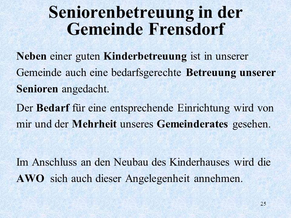 Seniorenbetreuung in der Gemeinde Frensdorf