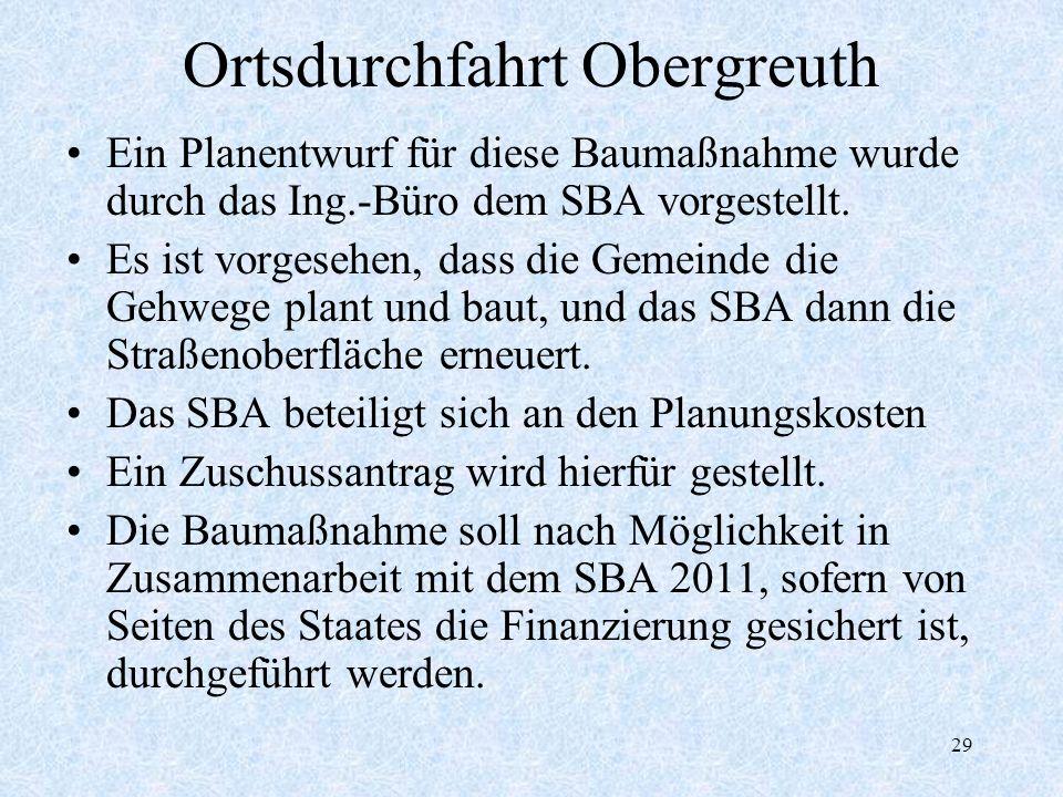 Ortsdurchfahrt Obergreuth