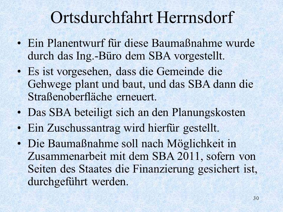 Ortsdurchfahrt Herrnsdorf