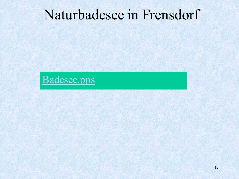 Naturbadesee in Frensdorf