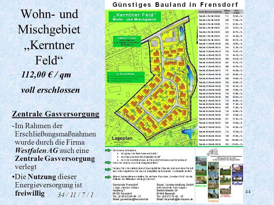 """Wohn- und Mischgebiet """"Kerntner Feld"""