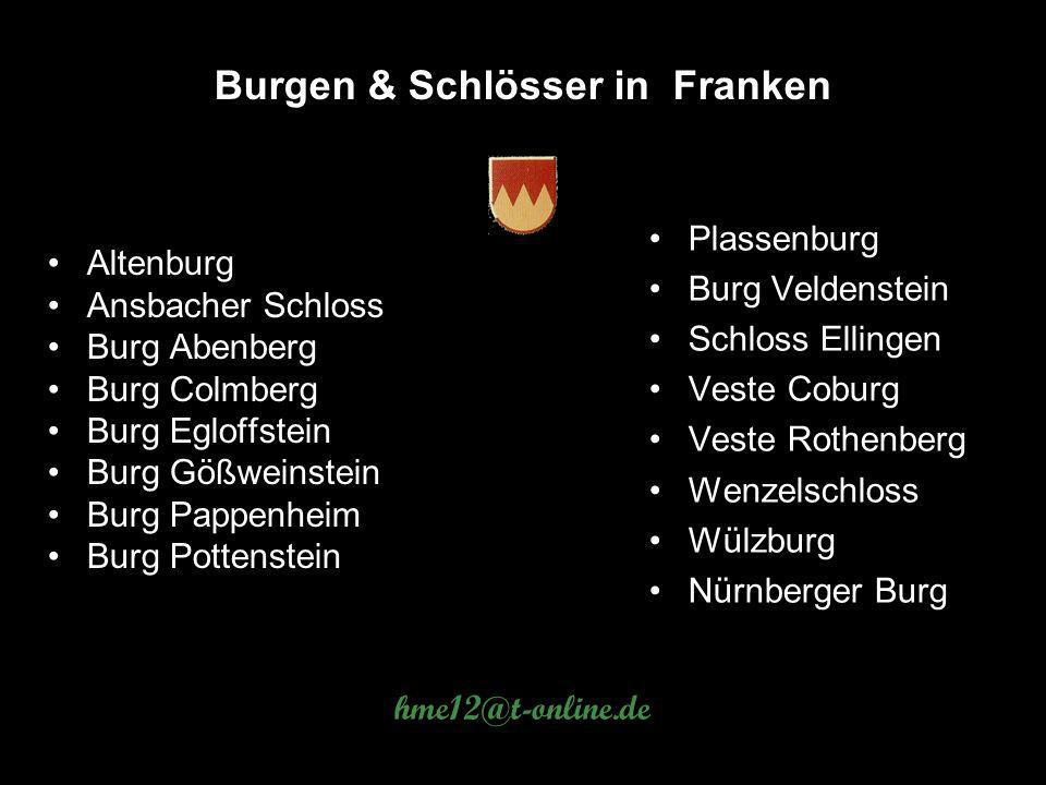 Burgen & Schlösser in Franken
