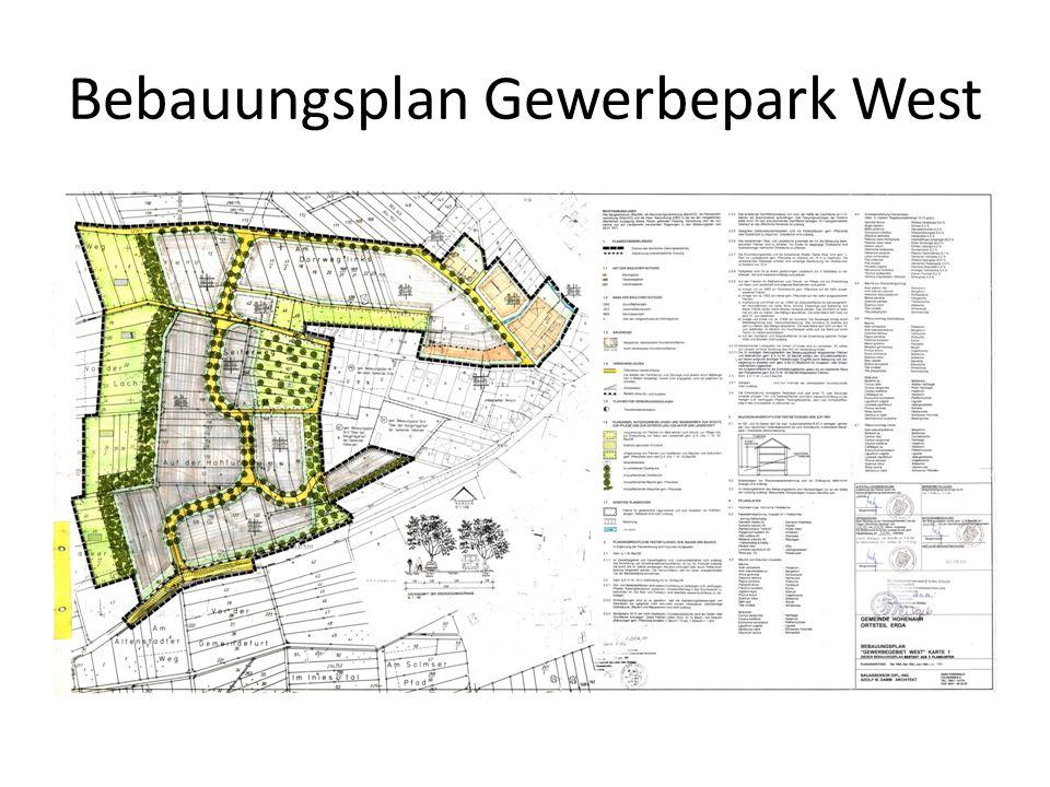 Bebauungsplan Gewerbepark West