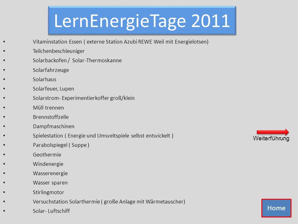 LernEnergieTage 2011 Vitaminstation Essen ( externe Station Azubi REWE Weil mit Energielotsen) Teilchenbeschleuniger.
