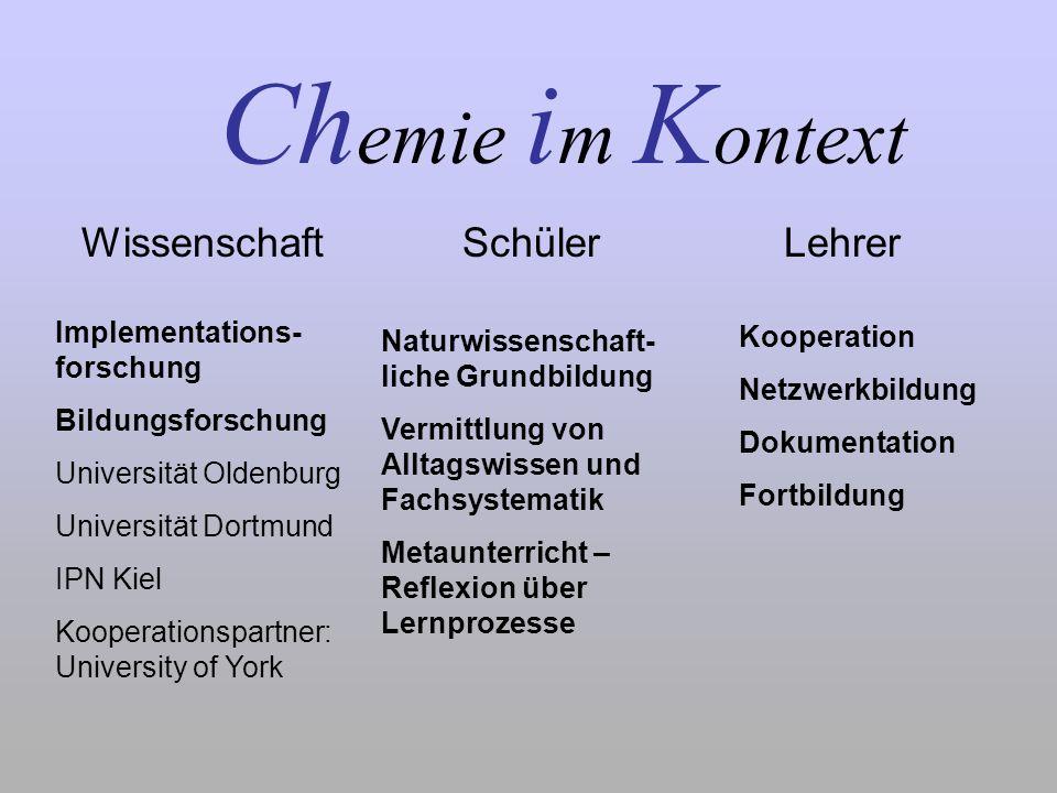 Chemie im Kontext Wissenschaft Schüler Lehrer