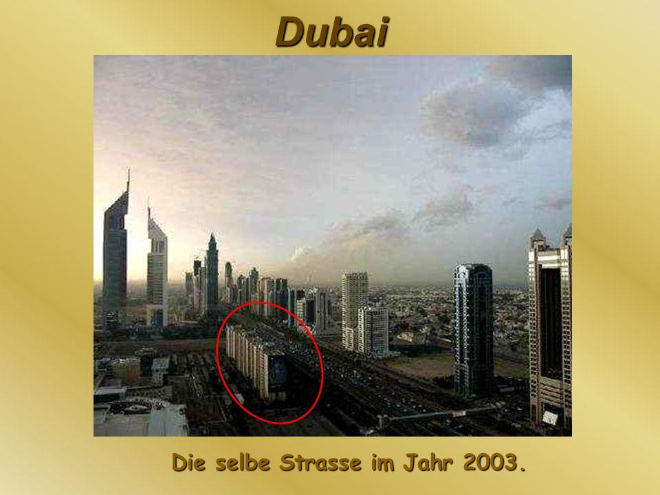 Die selbe Strasse im Jahr 2003.