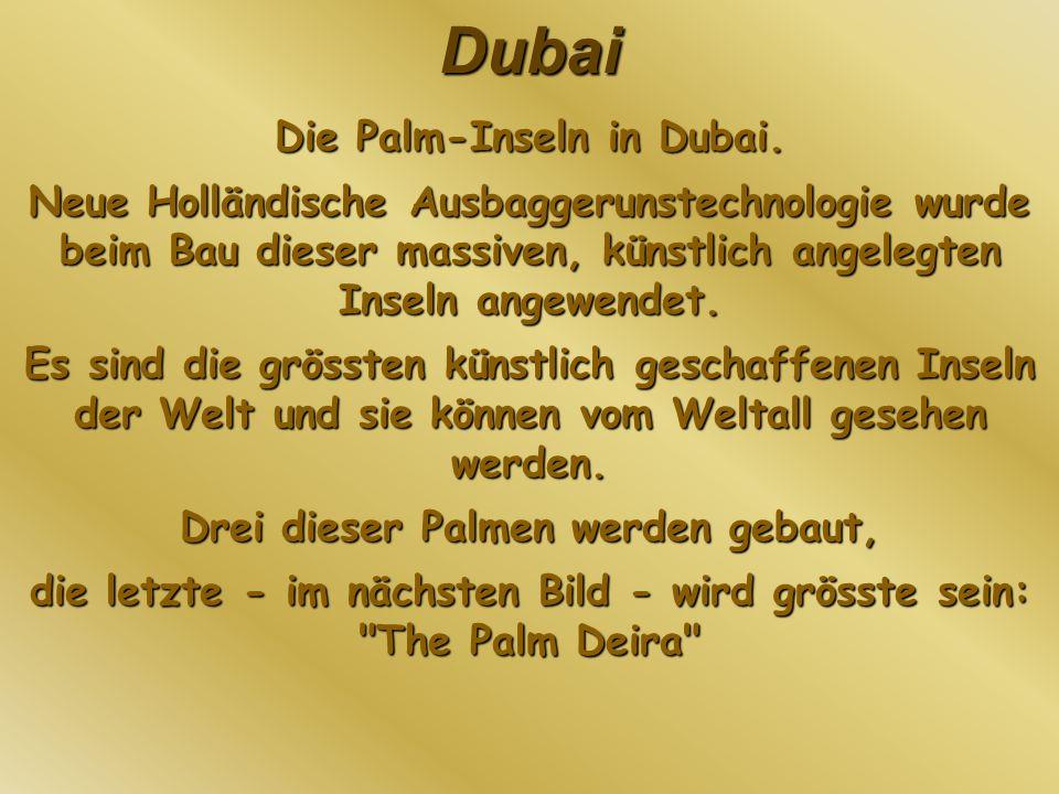 Die Palm-Inseln in Dubai.