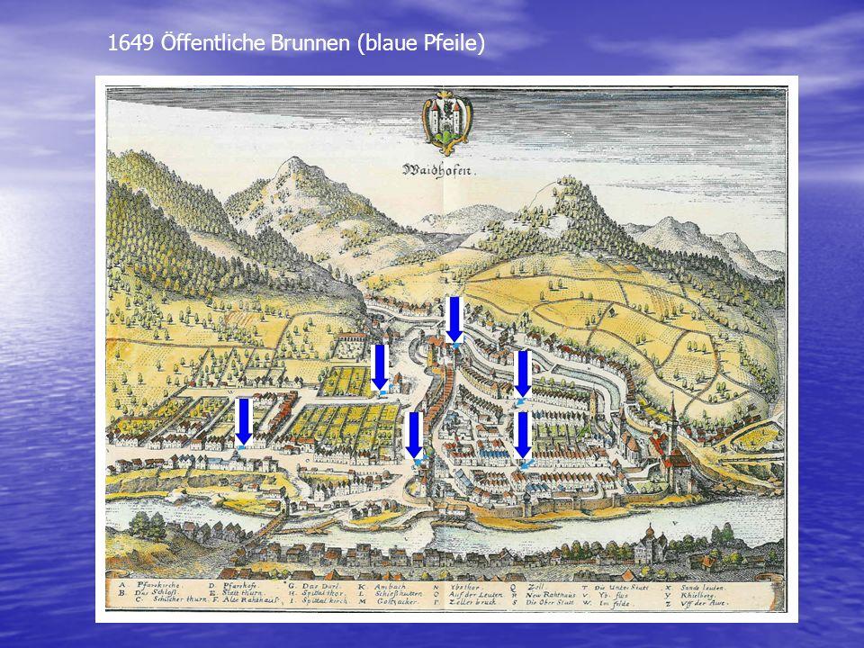 1649 Öffentliche Brunnen (blaue Pfeile)