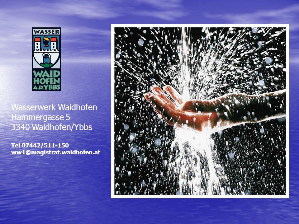 Wasserwerk Waidhofen Hammergasse 5 3340 Waidhofen/Ybbs