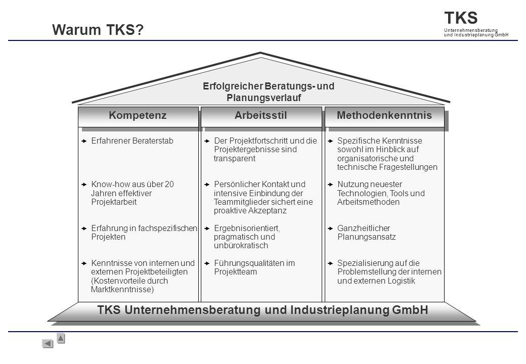 Warum TKS TKS Unternehmensberatung und Industrieplanung GmbH