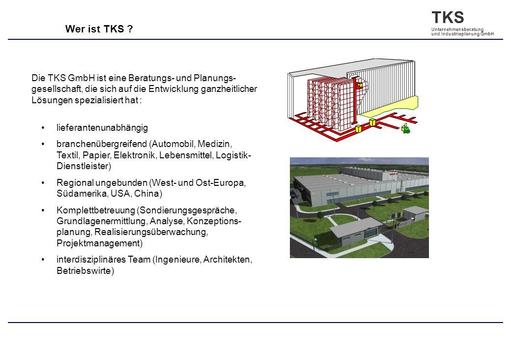 Wer ist TKS Die TKS GmbH ist eine Beratungs- und Planungs- gesellschaft, die sich auf die Entwicklung ganzheitlicher Lösungen spezialisiert hat :